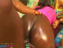 Thick Booty Bitches RammedAlayah Sashu - Five star oiled up ebony trunk gets slammed